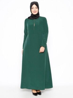 Plus Size Dress - Green - Esswaap 250442