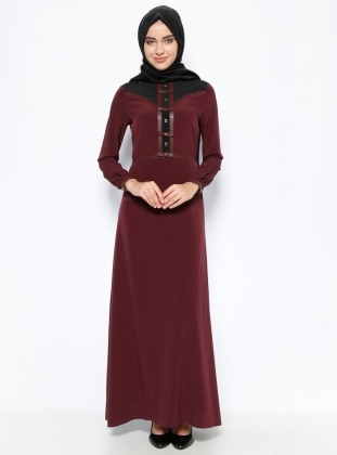 Dress - Plum- Esswaap 250382