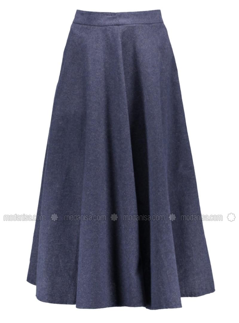 fully lined navy blue skirt benin by benin modanisa