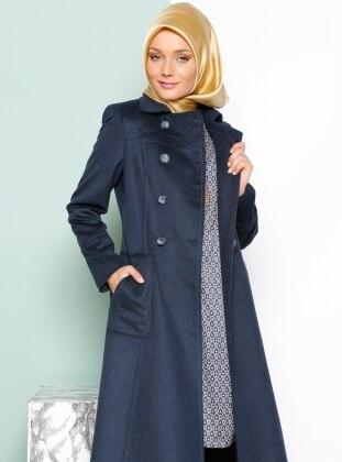 Coat - Navy Blue - Armine