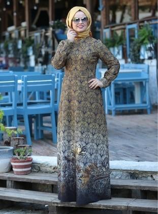 Ebruli Elbise - Hardal - Saliha