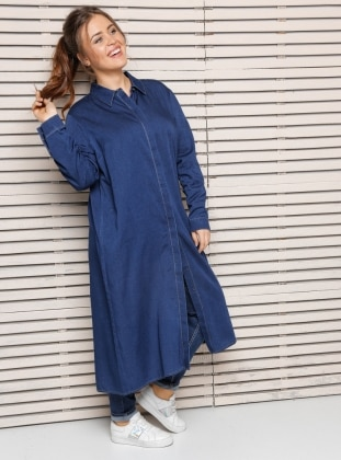 Plus Size Tunic - Blue - Alia 254022