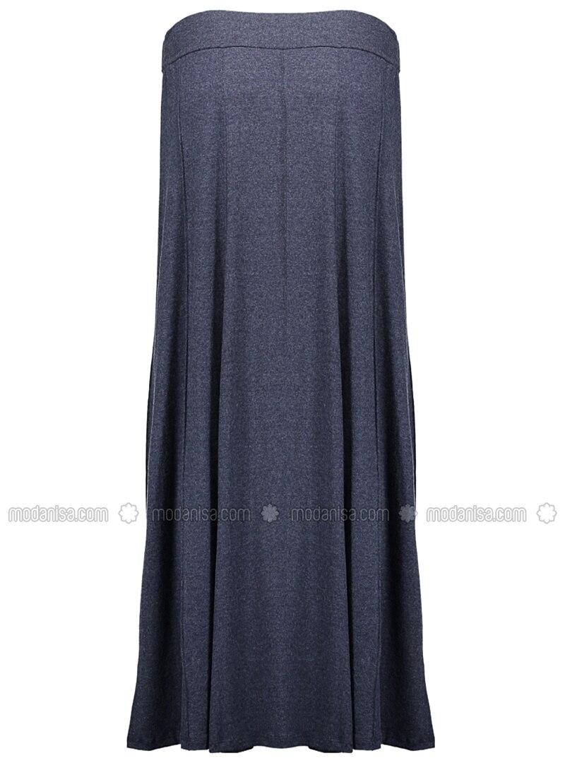 articulated wheel skirt navy blue skirts modanisa