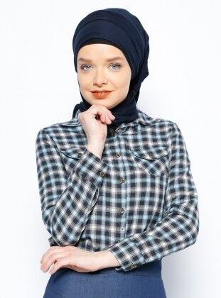 Ekoseli Gömlek - Siyah Mavi Tuncay