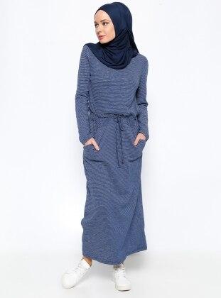 Dress - Navy Blue - Muni Muni