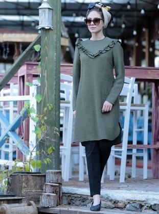 Tunic - Khaki - Minel Ask 261610