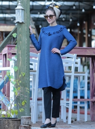 Tunic - Blue - Minel Ask 261611