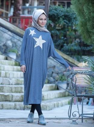 Tunic - Blue - Minel Ask 261617