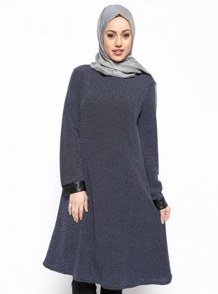 Bebe Yaka Tunik - Lacivert Eva Fashion