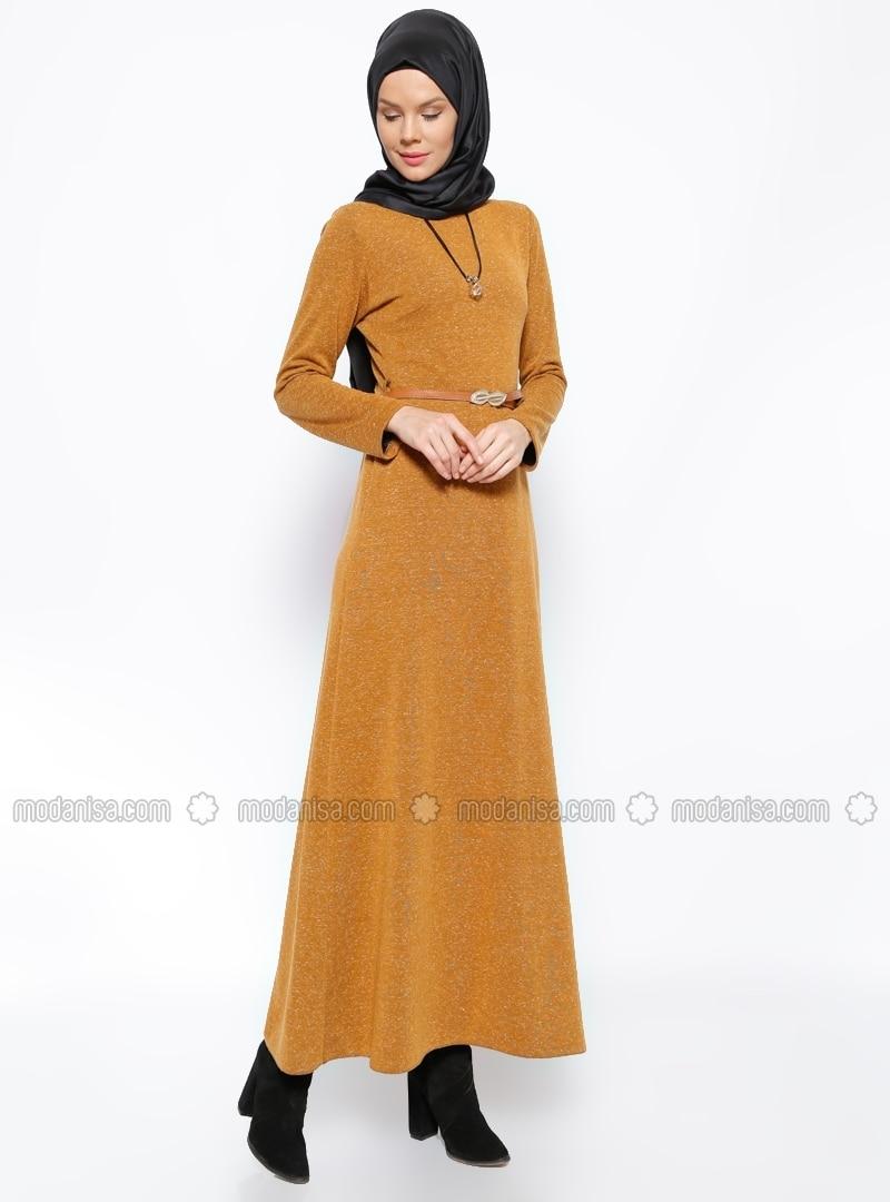 Brown Yellow Dress