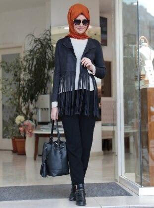 Stil Ceket - Siyah SomFashion