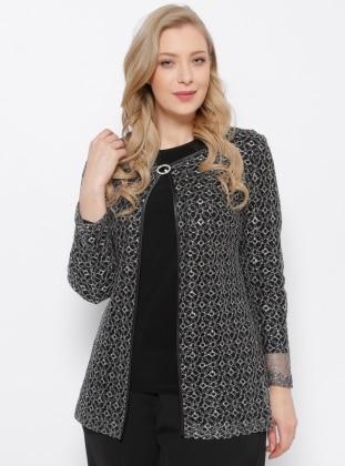 Ceket & Bluz İkili Takım - Siyah Arıkan