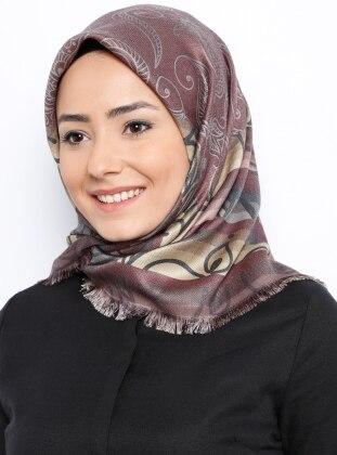 Dijital Dubai Cashmere Eşarp - Karışık Renkli - Miray