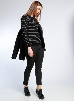 Fermuar Detaylı Tayt Pantolon - Codentry Woman - Antrasit adL