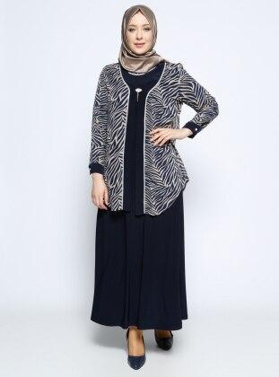 Ceket&Elbise İkili Abiye Takım - Vizon Metex