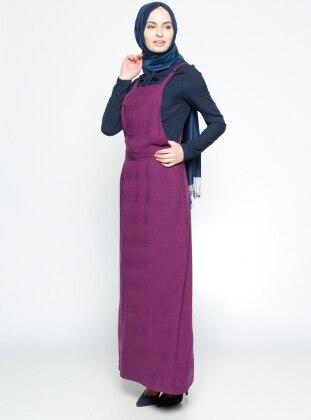 Salopet Elbise- Mürdüm Tuğba