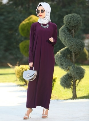 Ferace Elbise - Mürdüm Gabra