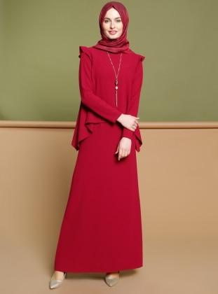 Kolyeli Elbise - Vişne