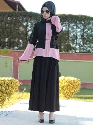 Garnili Bluz - Siyah Pudra Fatma Aydın