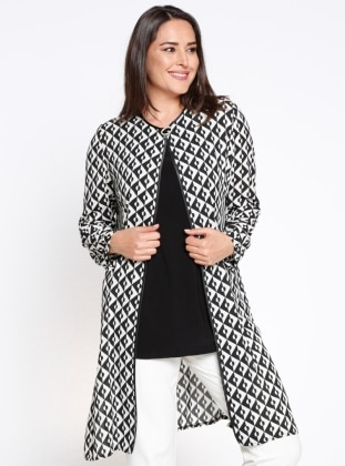 Kolsuz Bluz&Ceket İkili Takım - Siyah Arıkan
