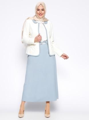 Etek&Ceket İkili Takım - Mavi Tuğba
