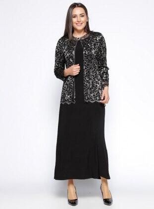 Ceket&Elbise İkili Takım - Siyah Arıkan