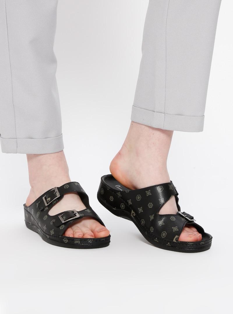Black - Beige - Sandal - Slippers - Pierre Cardin