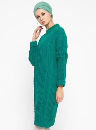 b13b3c4b6dbdf Triko Tunik - Yeşil - Loreen By Puane