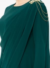 Green - Muslim Plus Size Evening Dress