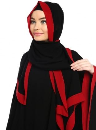 Şal - Siyah&Kırmızı