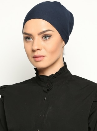 Cotton Bonnet - Navy Blue