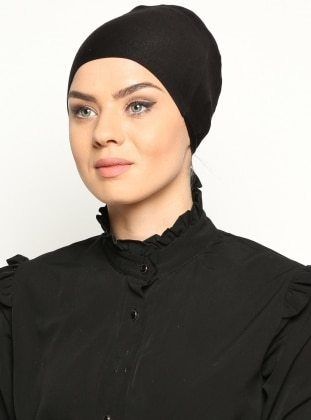 Cotton Bonnet - Black - Miray