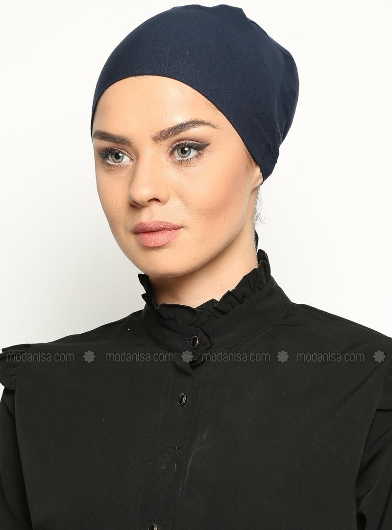 Cotton Bonnet - Navy Blue