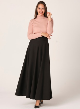 Plain circular skirt - Black - Veteks Line
