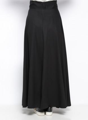 Plain circular skirt - Black