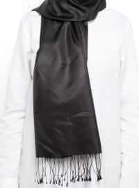 Zulal Pure Silk Scarf - Black - Armine