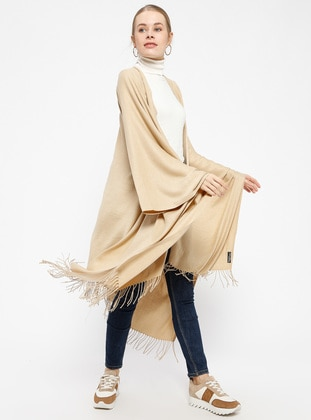 Beige - Shawl Wrap
