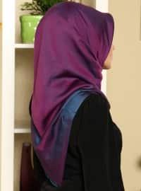 Solid Color Scarf - Purple - Gulsoy