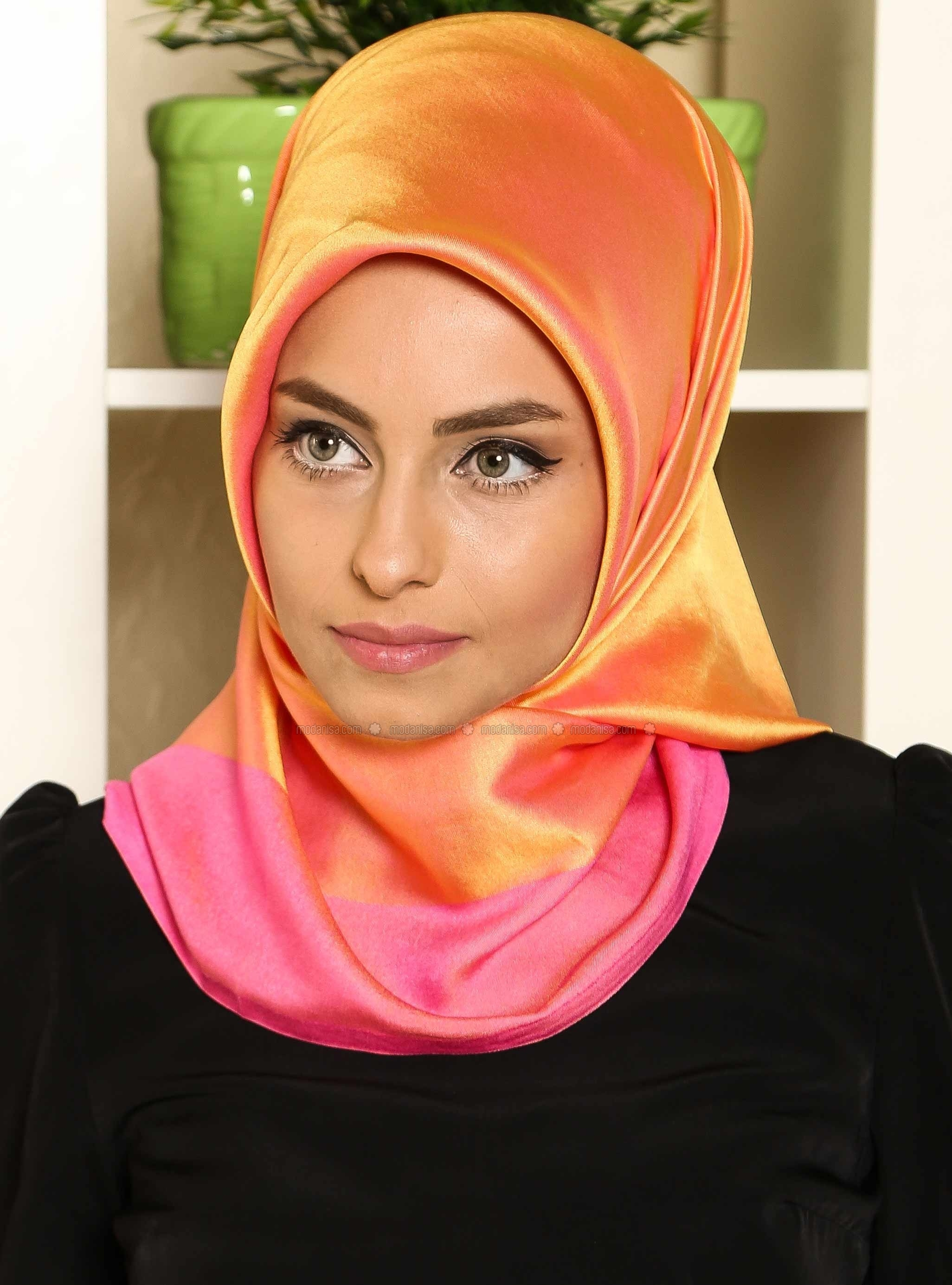 Solid Color Scarf - Yellow - Gulsoy
