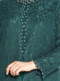 Green - Muslim Evening Dress
