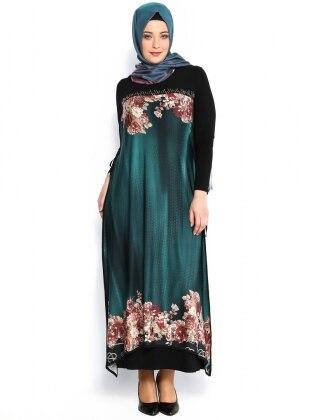 Floral Dress - Green - He&De