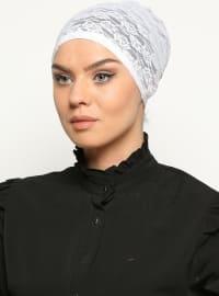 Bone White Lace Bags - White - Busra Anil