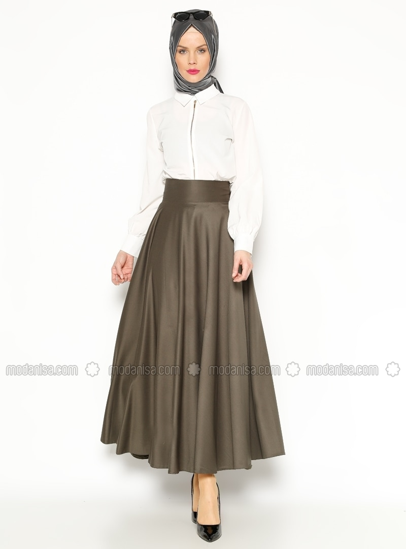 Flared Skirt - Dark Khaki