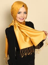 Silk Shawl - Yellow - Misirli