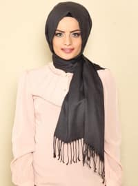 Pashmina - Gray - Plain - Cotton - Shawl