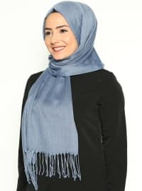 Pashmina - Blue - Plain - Cotton - Shawl