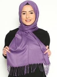 Pashmina - Purple - Plain - Cotton - Shawl