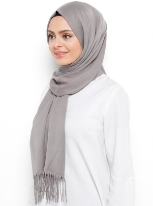 Pashmina - Gray - Plain - Shawl