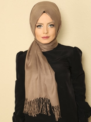 Pashmina - Brown - Plain - Shawl