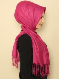 Plain - Pink - Pashmina - Shawl